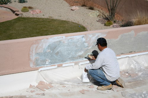 Roofing and stucco process in Tucson, Arizona