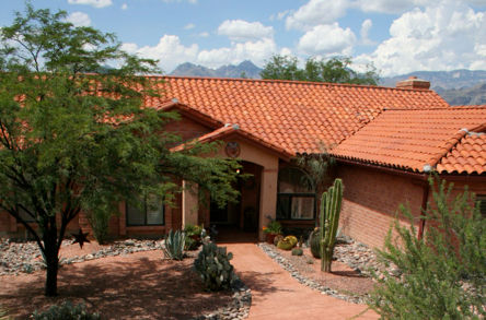Completed residential tile roof in Tucson, Arizona